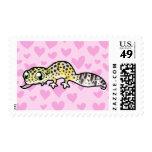 Leopard Gecko Love Postage Stamps
