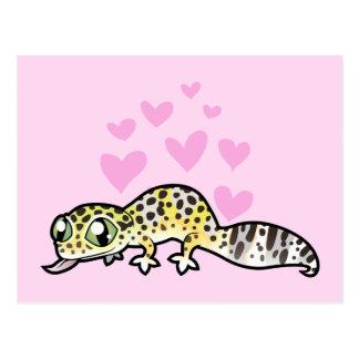 Leopard Gecko Love Postcard