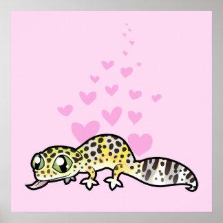 Leopard Gecko Love Poster