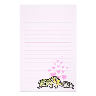 Leopard Gecko Love Stationery