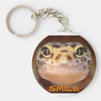 Leopard Gecko Smile Keychain