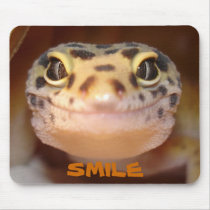 Leopard Gecko Smile Mouse Pad