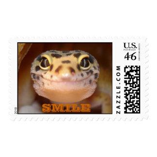 Leopard Gecko Smile Stamp