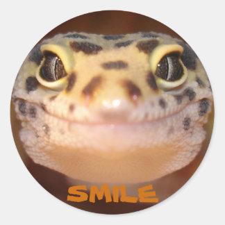 Leopard Gecko Smile Sticker