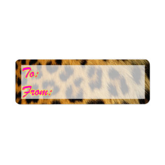 Leopard Gift Tag Stickers