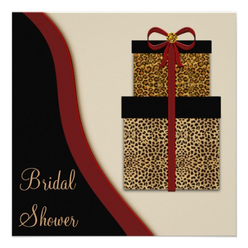 Personalized animal print bridal shower invitations leopard gifts leopard bridal shower announcements filmwisefo