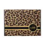 Leopard Gold Bling Monogram Case For iPad Mini