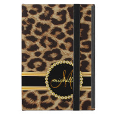 Leopard Gold Bling Monogram Cover For Ipad Mini at Zazzle