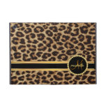 Leopard Gold Bling Monogram Cover For iPad Mini