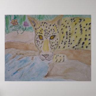 leopard goldeneyes poster