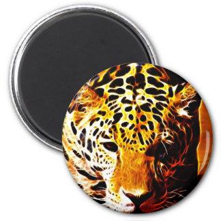 Leopard Gotcha Fridge Magnet
