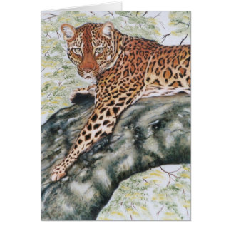 """Leopard"" Greeting Card"