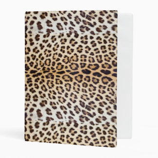 Leopard hair mini binder