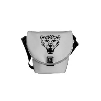 Leopard head courier bags