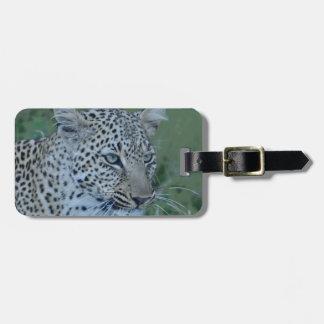 Leopard  Head Tee Bag Tag