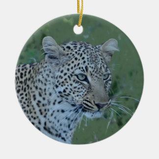 Leopard  Head Tee Ceramic Ornament