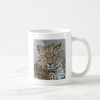Leopard Headshot Tom Wurl Coffee Mug