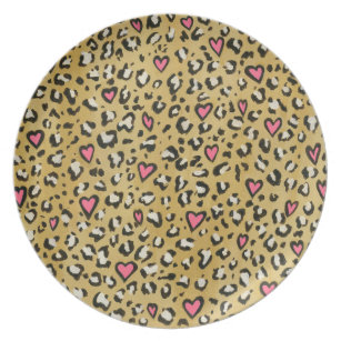 Aninimal Book: Cheetah Print Plates | Zazzle