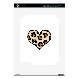 LEOPARD HEART DECALS FOR iPad 3
