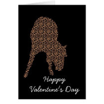 Leopard Horse On Black happy valentine's day Card