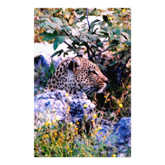 leopard hunt wait for opportunity success customized stationery