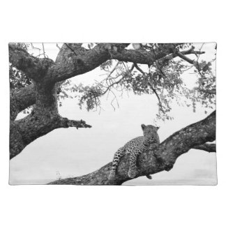 Leopard in a tree placemat