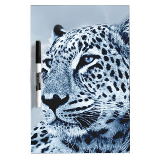 Leopard in Black and White Dry Erase Board