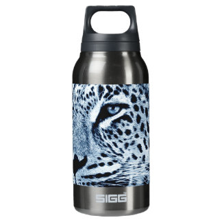 Leopard in Black and White Insulated Water Bottle