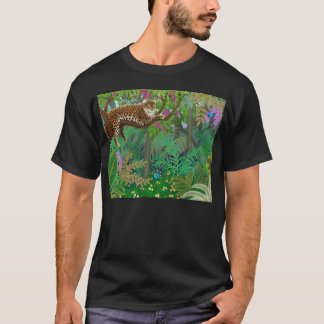 Leopard in Central American Jungle Dark T-Shirt