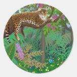 Leopard in Central American Jungle Sticker