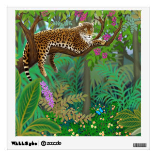 Leopard in Central American Jungle Wall Decal