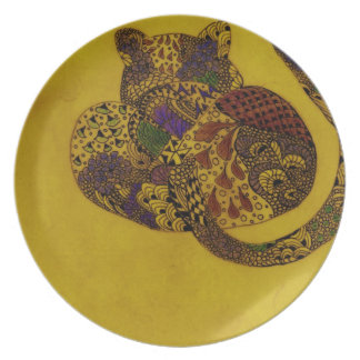 Leopard in Earth colors Plate