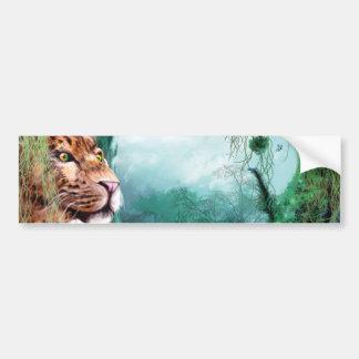 Leopard in Jungle Car Bumper Sticker
