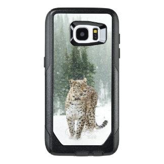 Leopard in the Snow OtterBox Samsung Galaxy S7 Edge Case