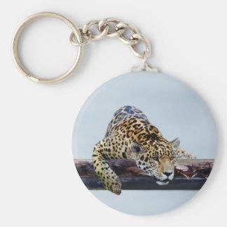 Leopard in the tree II Keychain
