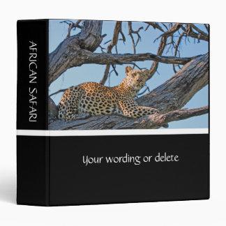 """Leopard in tree 1.5"""" binder"""