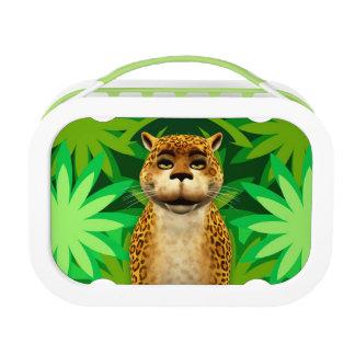 Leopard Kids Jungle Fun Cartoon Lunch Box