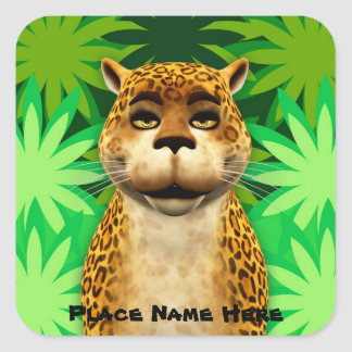 Leopard Kids Jungle Fun Cartoon Sticker