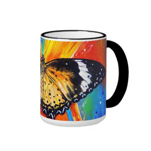 Leopard Lacewing Coffee Mugs