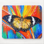 Leopard Lacewing Mouse Pad