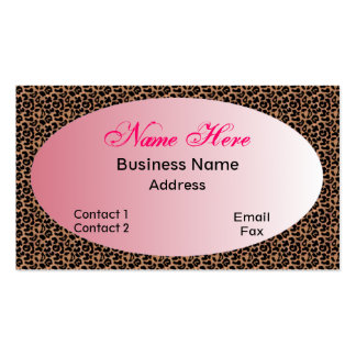 Leopard Ladies Business Card