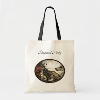 Leopard Lady Art Decor Era Icart on Tote Bag