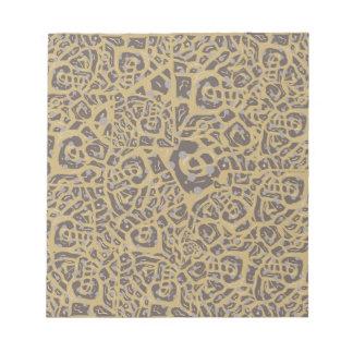 Leopard like print scratch pads