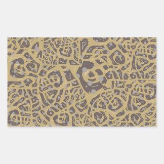 Leopard like print rectangle stickers