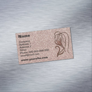 Leopard Lily Business Card Magnet