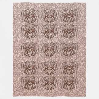 Leopard Lily Fleece Blanket