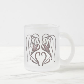 Leopard Lily Frosted Glass Coffee Mug