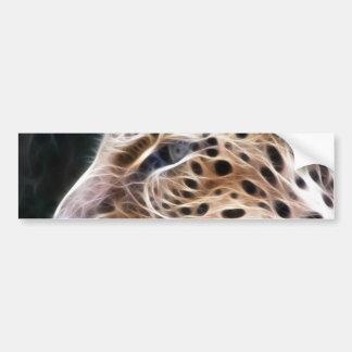 Leopard lines,Leopard painting Bumper Sticker