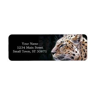 Leopard lines,Leopard painting Label