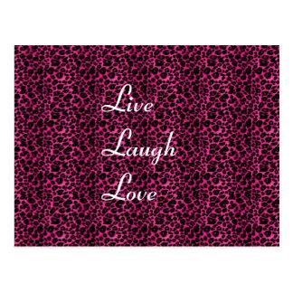 leopard, LiveLaughLove Postcard